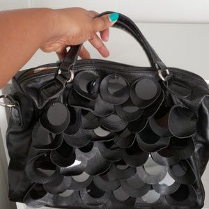 Nicole Lee Purse Black with Large Sequins